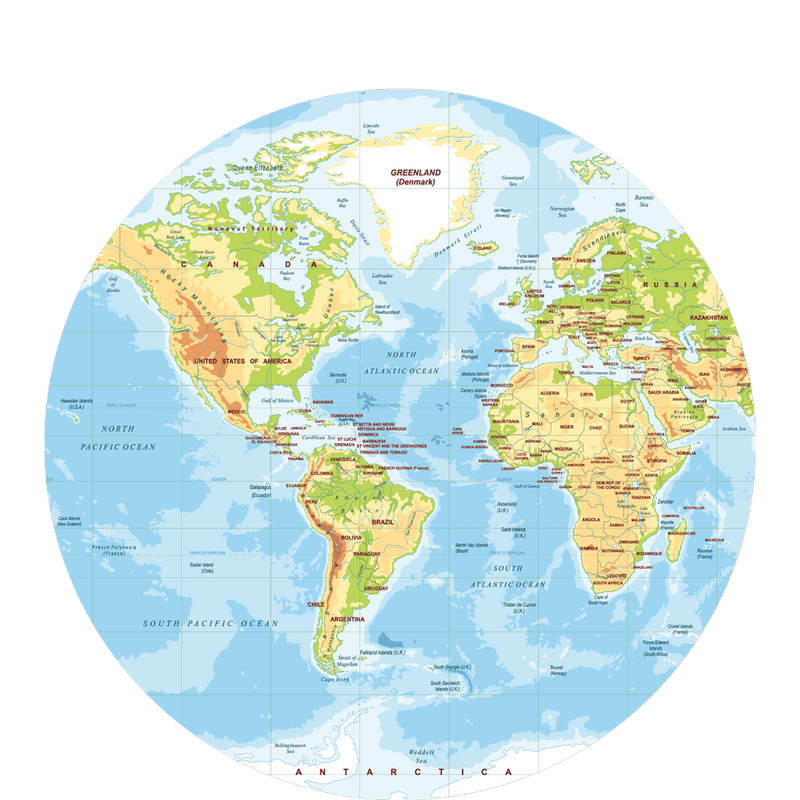 Polypropylyn physical world map round placemat f 2 sketch your line polypropylyn physical world map round placemat f 2 gumiabroncs Choice Image