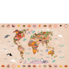 Picture - World Map Rectangular Picture (40/60 Cm.)