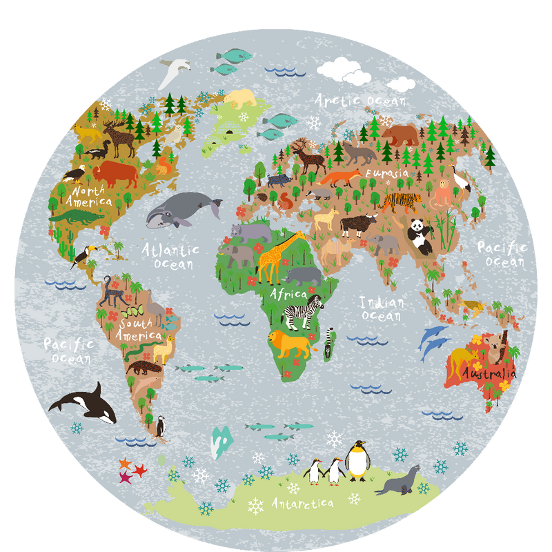 picture world map round picture 40 cm