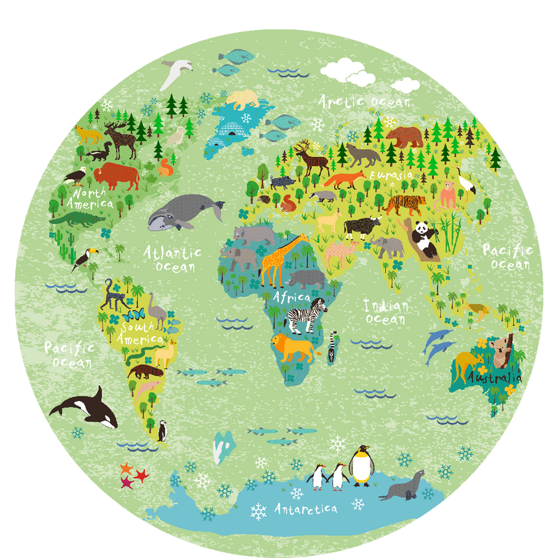 World map round picture 40 cm sketch your line picture world map round picture 40 cm sciox Image collections