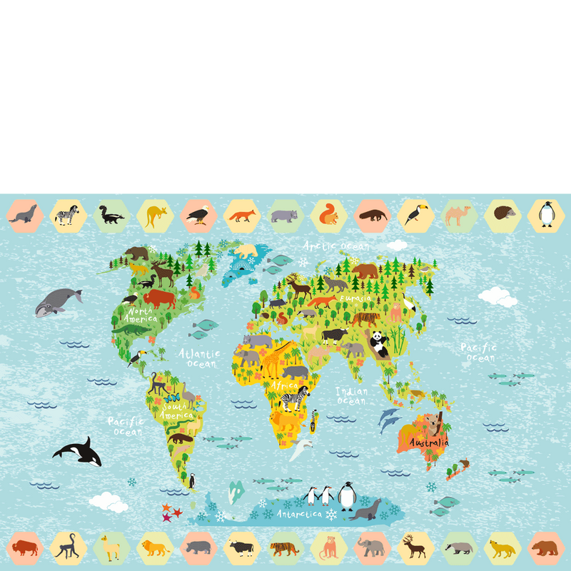 World map rectangular placemat 4060 cm sketch your line placemat world map rectangular placemat 4060 cm gumiabroncs Choice Image