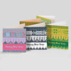 8 Happy New Year Fresco square greeting cards