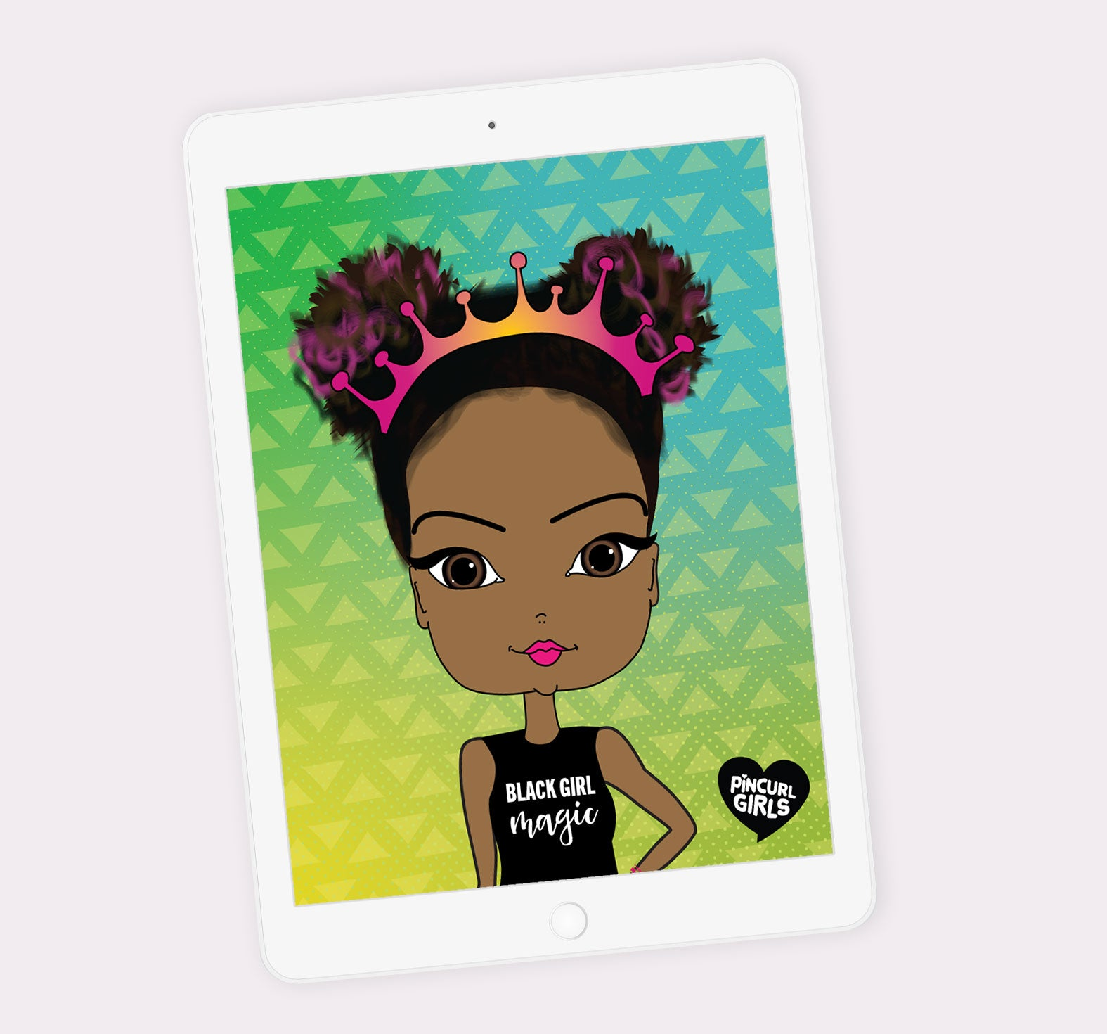 Digital Planner with African American Illustration