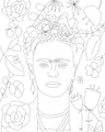 Frida Kahlo Digital Coloring Page for ProCreate