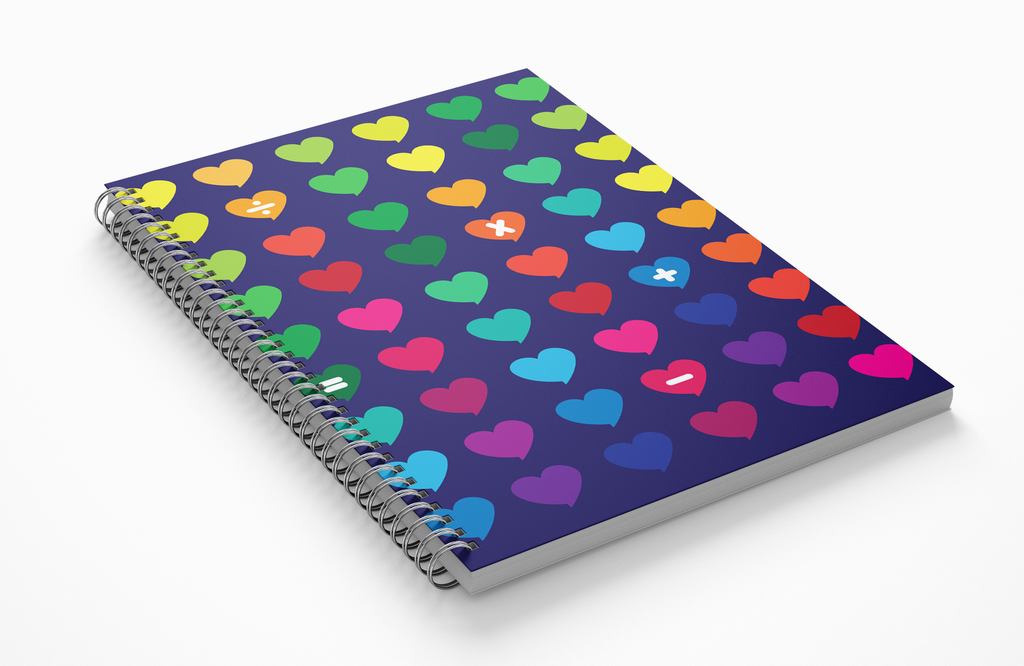 Grid Paper Notebook for Elementary, Middle School Math Homework-Pincurl Girls - Sending Love & Encouragement