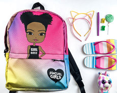 African American Girl Cute Backpack by Pincurl Girls