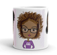 African American Girl Cute Coffee Mug