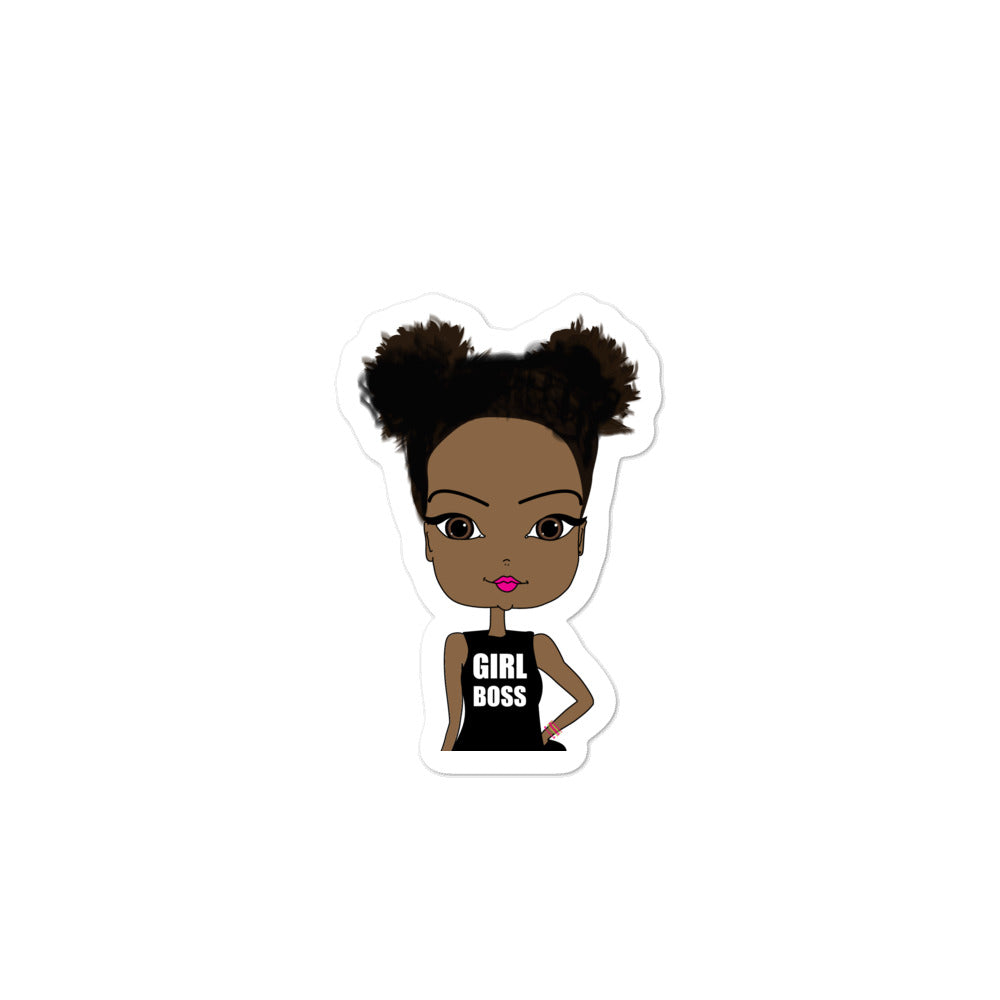 African American Girl Boss Sticker