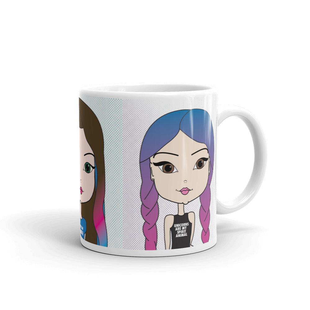 Cute Coffee Cup, Tea, Hot Chocolate, Pincurl Girl Coffee Mug, Good Morning Sunshine