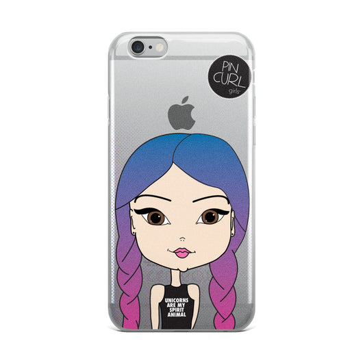 Unicorns Are My Sprit Animal - Pincurl Girls iPhone Case