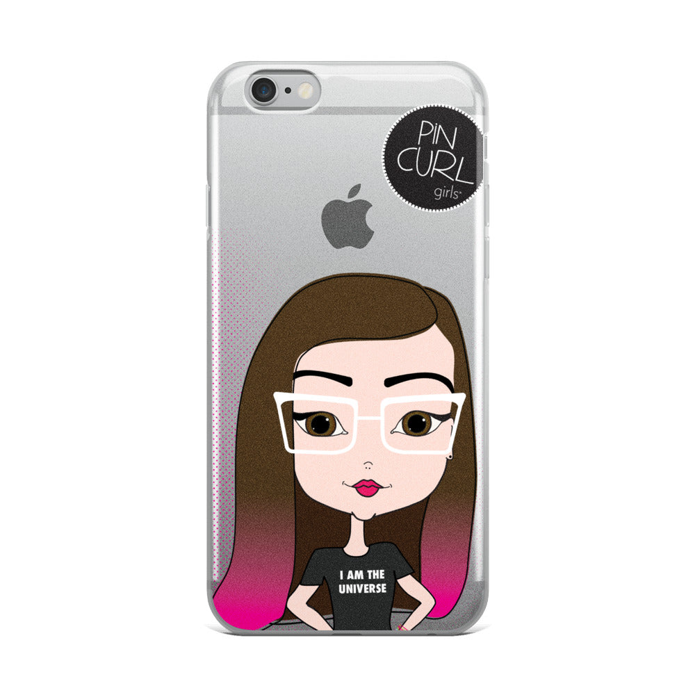I Am the Universe - Pincurl Girls iPhone Case