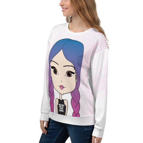 Oversized Sweatshirt Cute  Unicorns Are My Spirit Animal