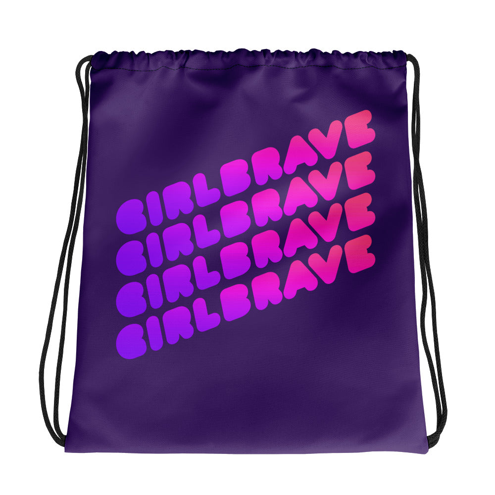 GIRLBRAVE Drawstring bag - Pincurl Girls - Inspiring Girls to Love Themselves