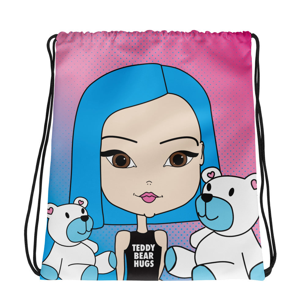 Teddy Bear Hugs Drawstring Bag - Pincurl Girls - Inspiring Girls to Love Themselves