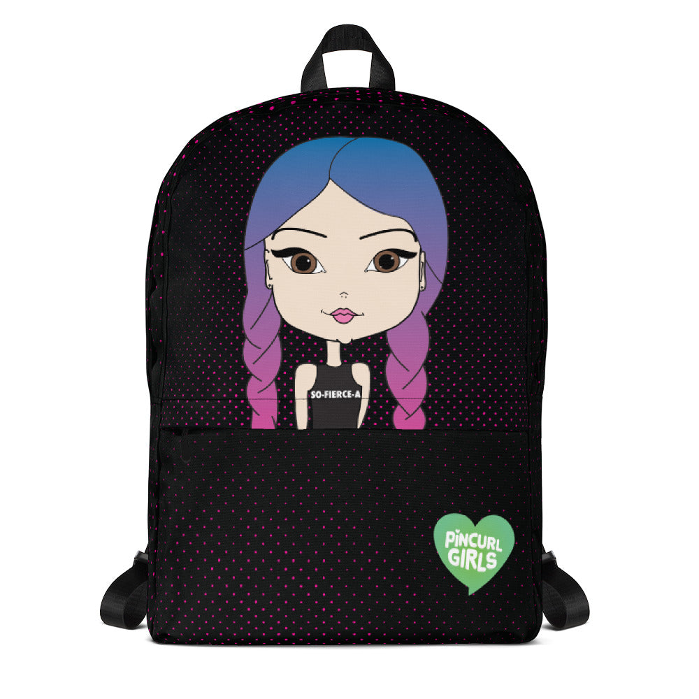 Girl with Mermaid Braids Cute Backpack - Pincurl Girls - Inspiring Girls to Love Themselves