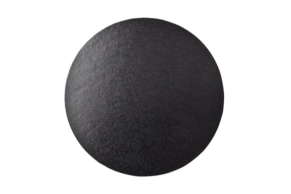 Round Cake board Black 10 inch Drum