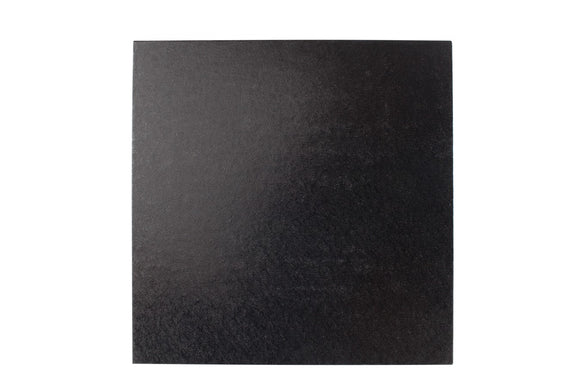 Square Cake board Black 10 inch Drum