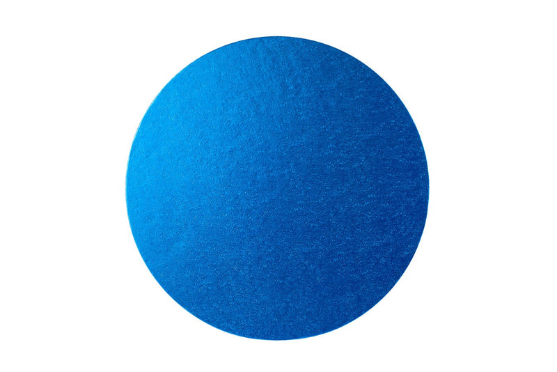 Round Cake board Blue 8 Inch Drum
