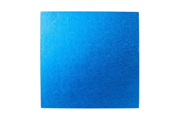 Square Cake board Blue 12 Inch Drum