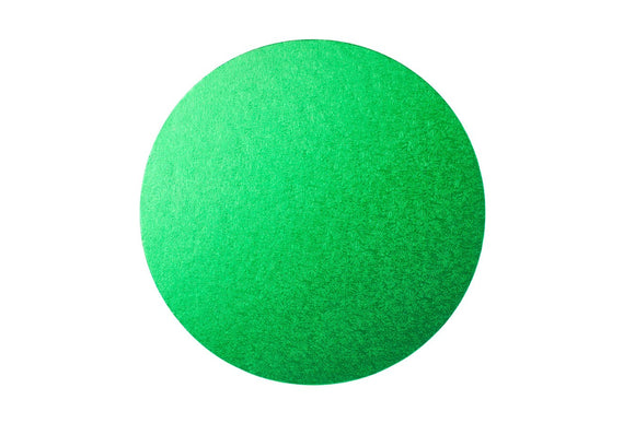 Round Cake board Green 10 inch Drum