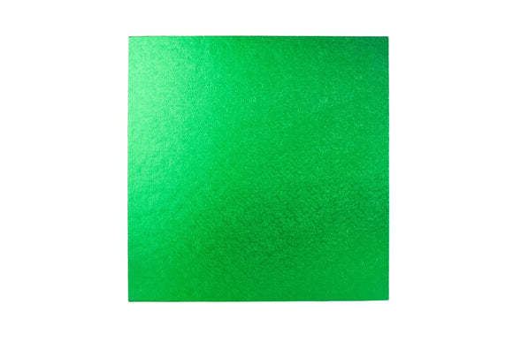 Square Cake board Green 10 inch Drum