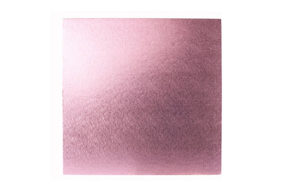 Square Cake board Pale Pink 8 Inch Drum