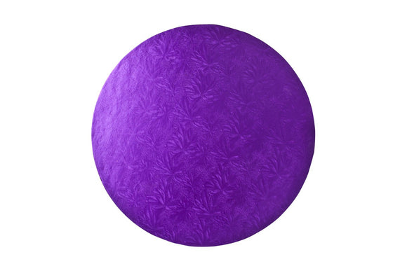 Round Cake board Purple 8 Inch Drum
