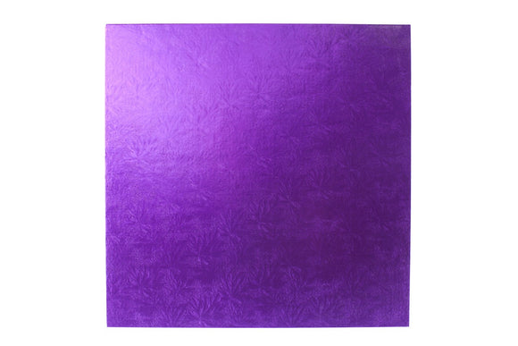 Square Cake board Purple 14 Inch Drum