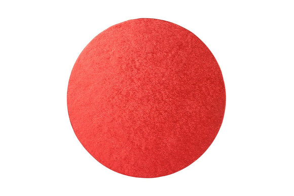 Round Cake board Red 10 inch Drum