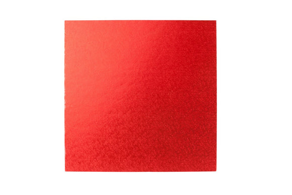 Square Cake board Red 10 inch Drum