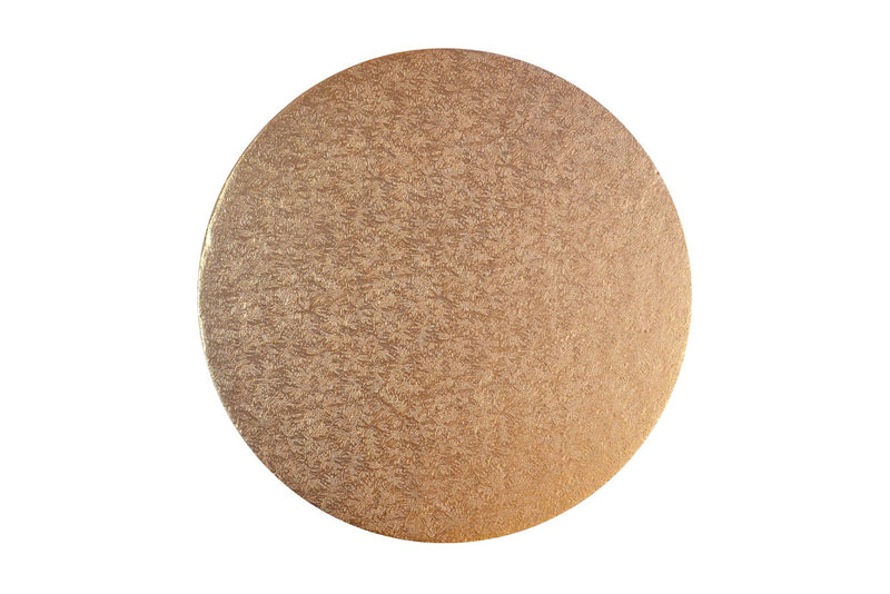 Round Cake board Rose Gold 10 inch Drum