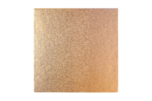 Square Cake board Rose Gold 8 Inch Drum