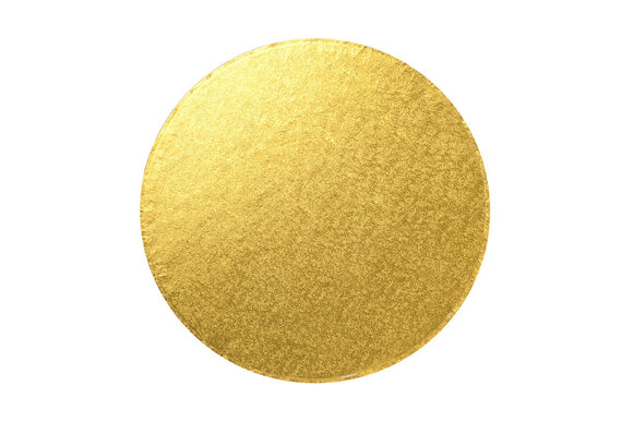 Round Cake board Gold 6 Inch Drum