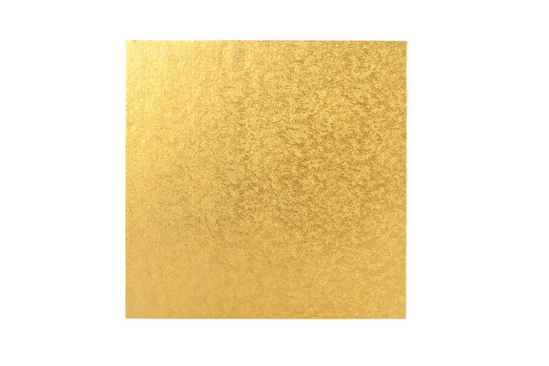 Square Cake board Gold 10 inch Drum