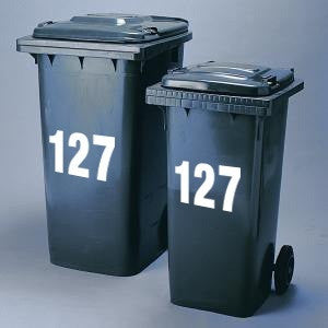 Wheelie Bin Numbers UK Supplier