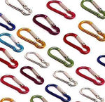 Carabiner Gourd Spring Clip Hook Keychain Keyring Climbing Hiking Key Clips - Things4craft.co.uk
