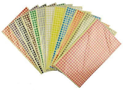 6mm Coloured Dot Stickers Round Sticky Adhesive Spot Circles Paper Labels - Things4craft.co.uk