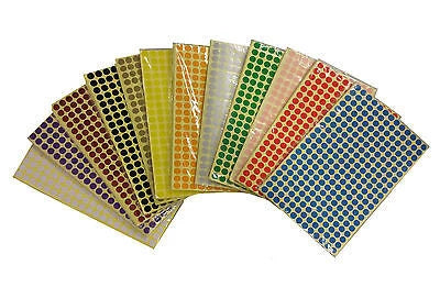 8mm Coloured Dot Stickers Round Sticky Adhesive Spot Circles Paper Labels - Things4craft.co.uk - 1