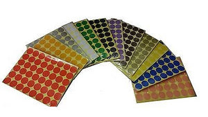 25mm 1 inch Coloured Dot Stickers Round Sticky Adhesive Spot Circles Paper Label - Things4craft.co.uk