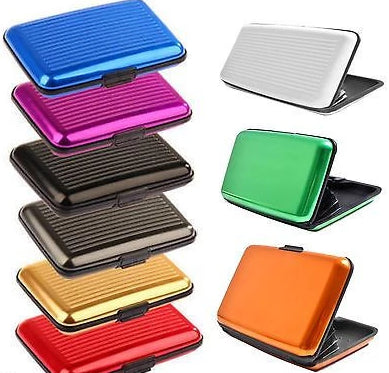 Aluminium Metal Pocket Business ID Credit Card Wallet Holder Case  - Things4craft.co.uk - 4