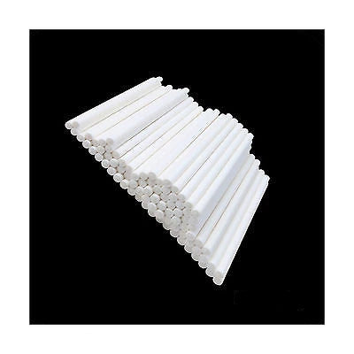 "50 WHITE PAPER 15cm (6"") LOLLIPOP STICKS / CAKE POPS / SWEETS / LOLLIES - Things4craft.co.uk"