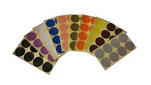 50mm 2 inch Coloured Dot Stickers Round Sticky Adhesive Spot Circles Paper Label - Things4craft.co.uk