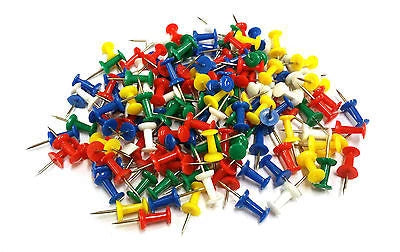Noticeboard Push Pins Mixed Colours Choose Pack Size UK seller - Things4craft.co.uk