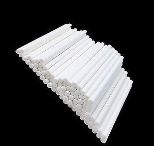 "100 WHITE PAPER 15cm (6"") LOLLIPOP STICKS / CAKE POPS / SWEETS / LOLLIES - Things4craft.co.uk"