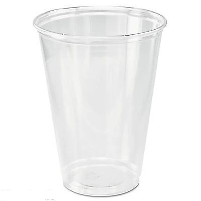 Ultra Clear Cups Tall 10oz Plastic cup glass PET Biodegradeable Slush glasses - Things4craft.co.uk