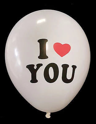 I love you balloon ❤ Latex Balloons ❤ Red or White ❤ Valentines ❤ - Things4craft.co.uk - 1