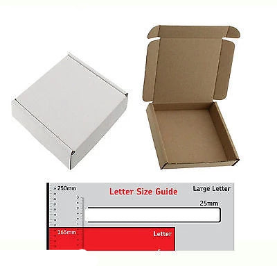 12.5cm x 12.5cm x 2.4cm White BOX MINI SQUARE SHIPPING PIP LARGE LETTER - 50 - Things4craft.co.uk