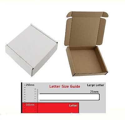12.5cm x 12.5cm x 2.4cm White BOX MINI SQUARE SHIPPING PIP LARGE LETTER - 200 - Things4craft.co.uk