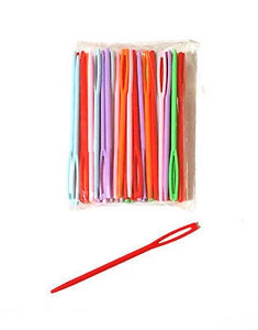 PLASTIC SEWING NEEDLES 9cm NEEDLES SEWING CROSS STITCH CHILDRENS Large - Things4craft.co.uk - 1