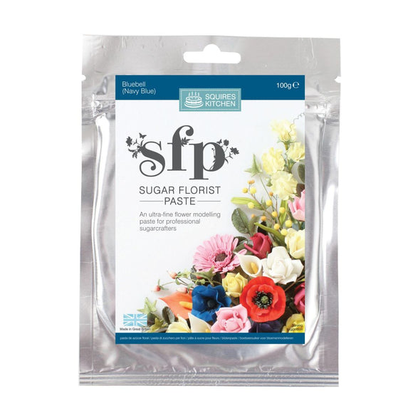 Squires Kitchen Sugar Florist Paste SFP Gum Paste modelling paste Bluebell (Navy Blue)